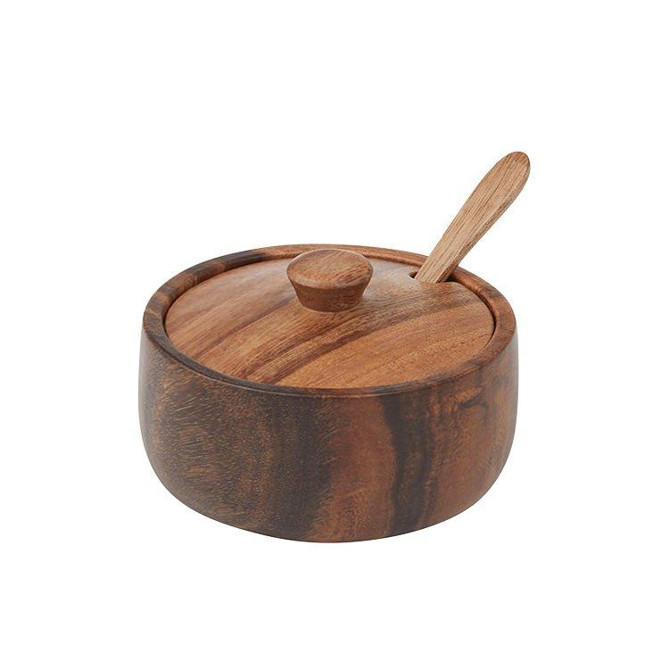 Davis & Waddell Acacia Storage Bowl w/ Lid & Spoon