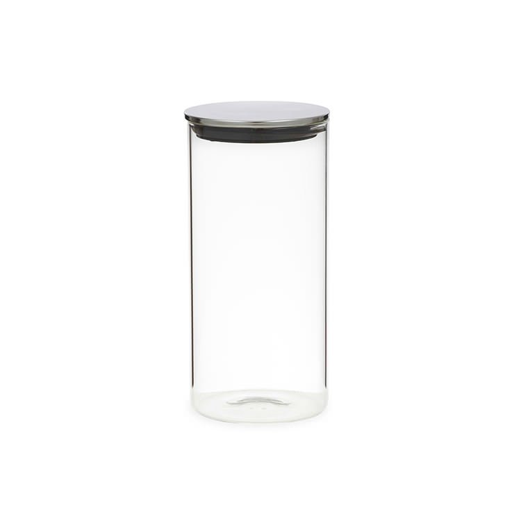 Davis Waddell Glass Canister W Stainless Steel Lid 14l Fast
