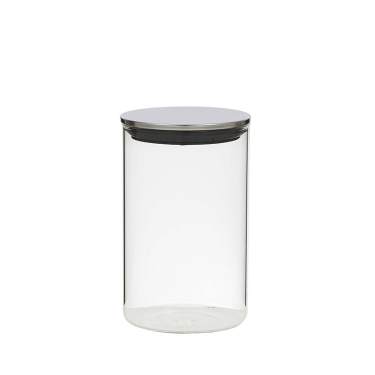Davis & Waddell Glass Canister w/ Stainless Steel Lid 1.1L