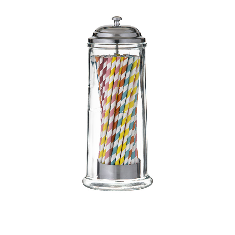 Davis & Waddell Straw Dispenser with 60 Paper Straws