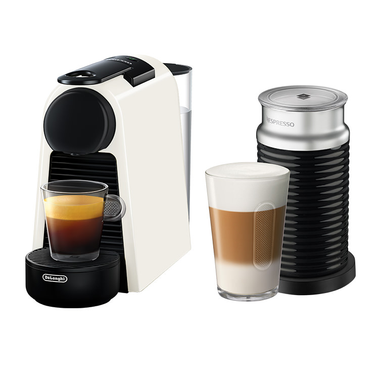 DeLonghi Essenza Mini Nespresso & Aeroccino3 White