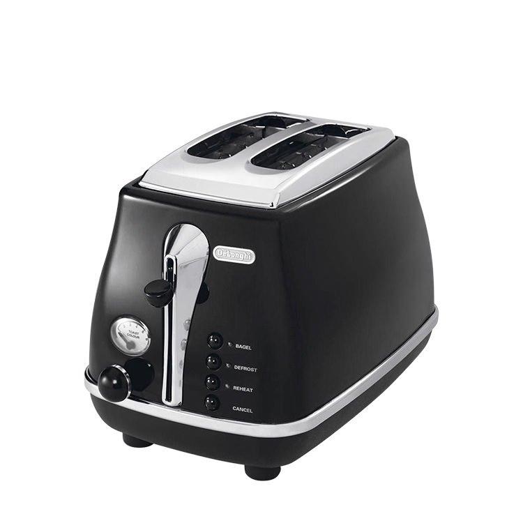 DeLonghi Icona 2 Slice Toaster Black