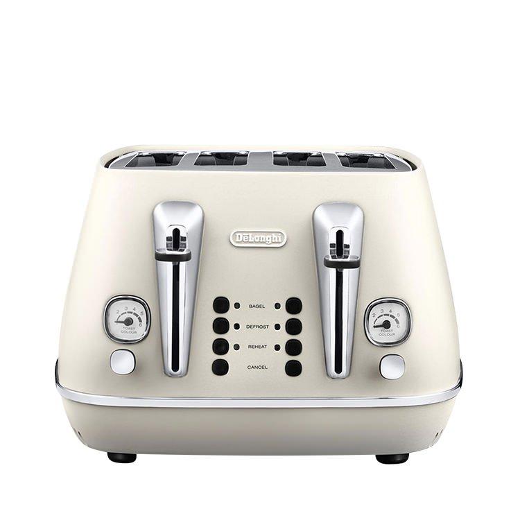 Delonghi Distinta 4 Slice Toaster White