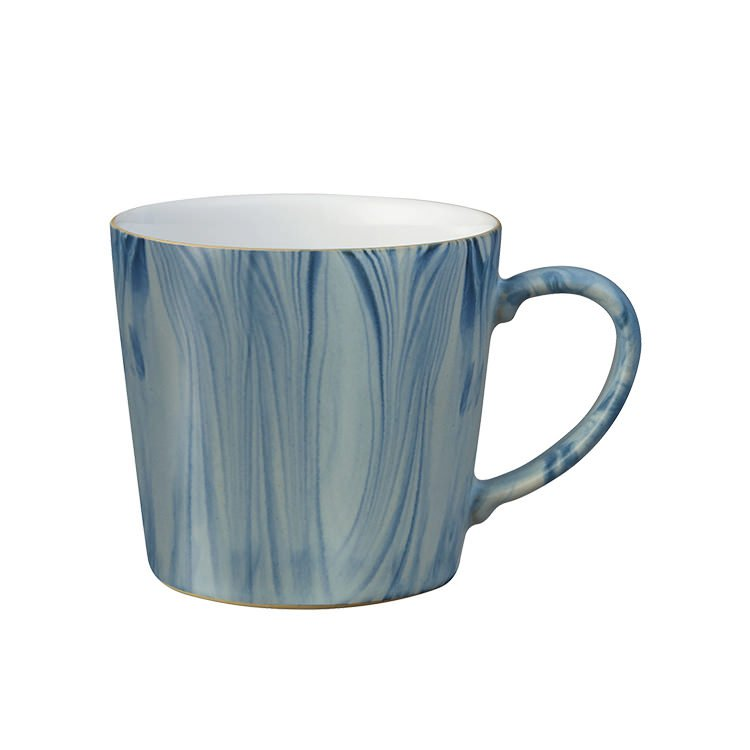 Denby Hand-Painted Mug 400ml Blue Marble