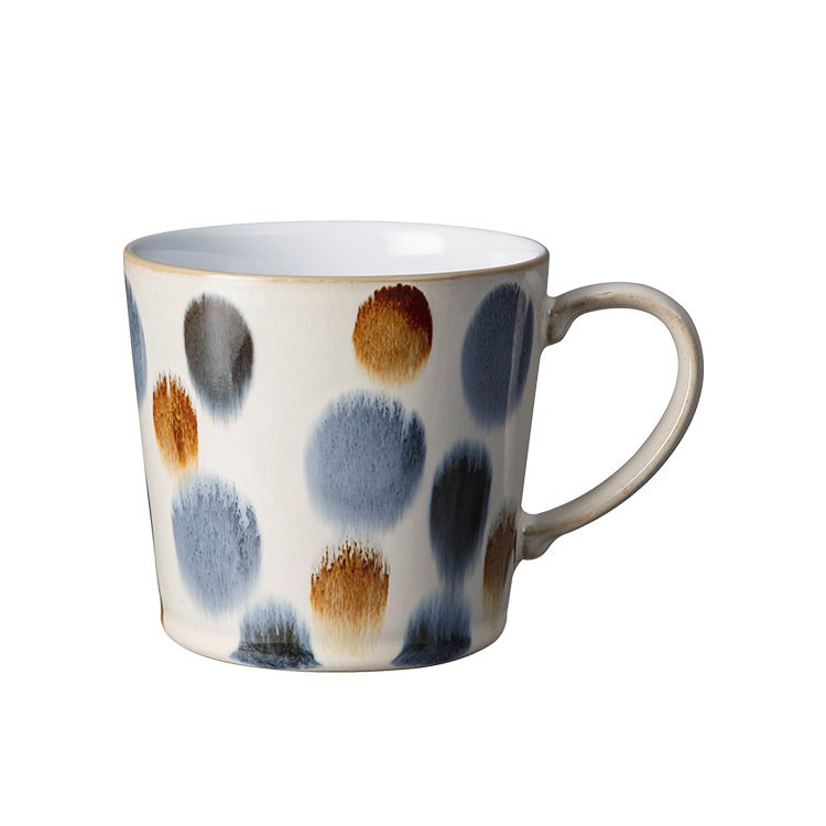 Denby Hand-Painted Mug 400ml Brown Spot