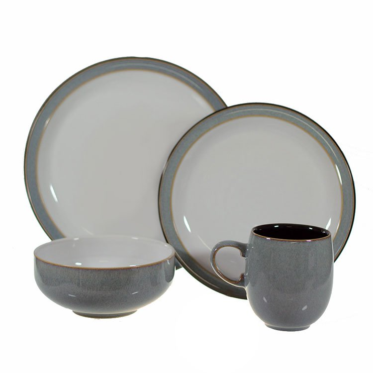 denby jet grey dinner set 16pc fast shipping