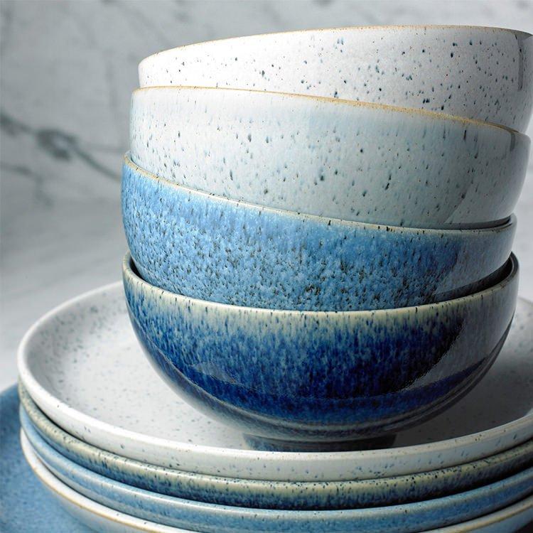 Denby Studio Blue Cereal Bowl 17cm Set of 4