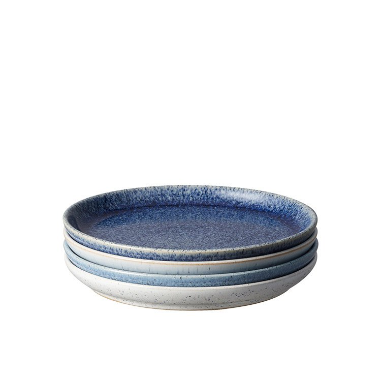 Denby Studio Blue Coupe Dinner Plate 21cm Set of 4