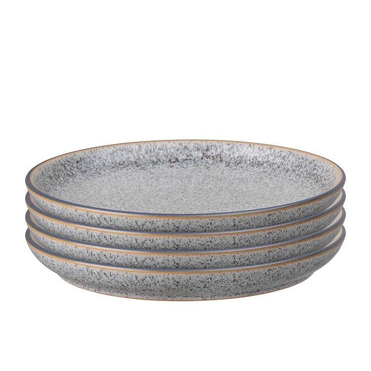 Denby Studio Grey Coupe Dinner Plate 26cm Set of 4