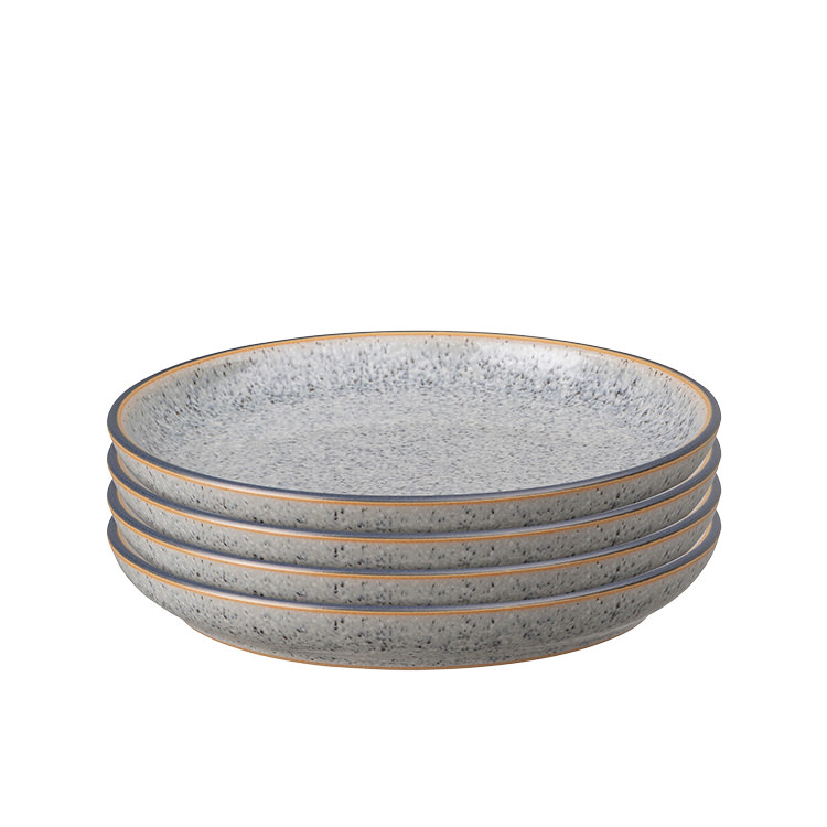 Denby Studio Grey Small Coupe Plate 17cm Set of 4