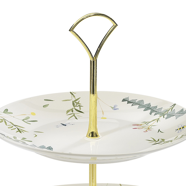Ecology Greenhouse 2 Tier Cake Stand 27x24.5cm