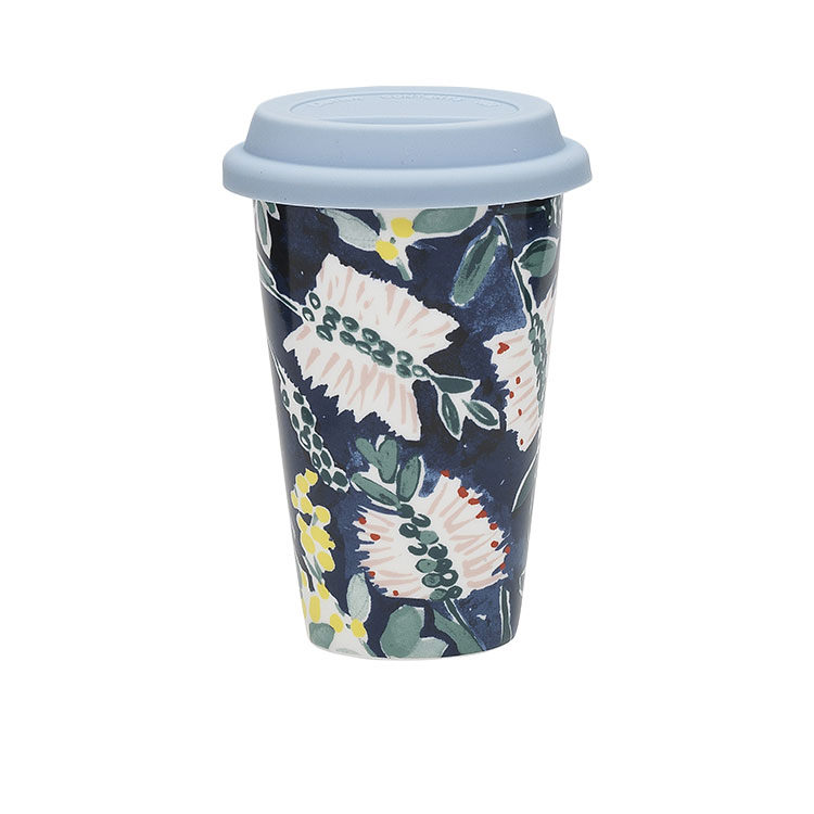 Ecology Kallista Double Wall Insulated Travel Mug w/ Lid 240ml Blue