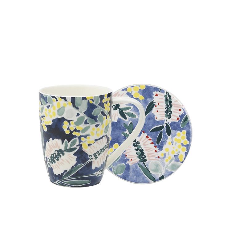 Ecology Kallista Mug & Coaster 360ml Blue