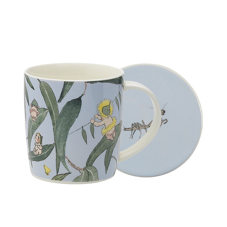 Ecology May Gibbs Mug & Coaster 320ml Gumnut Babies - Light Blue