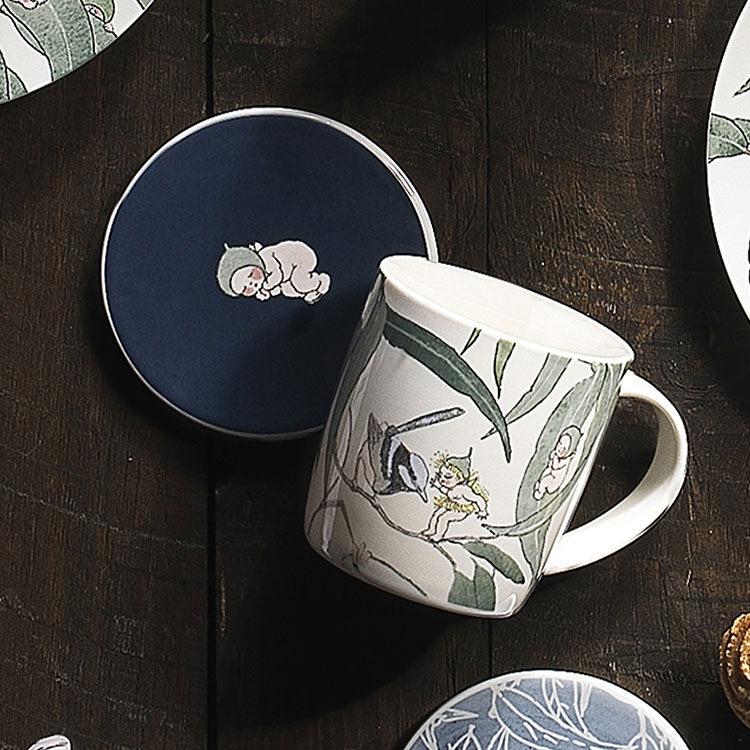 Ecology May Gibbs Mug & Coaster 320ml Gumnut Babies - White