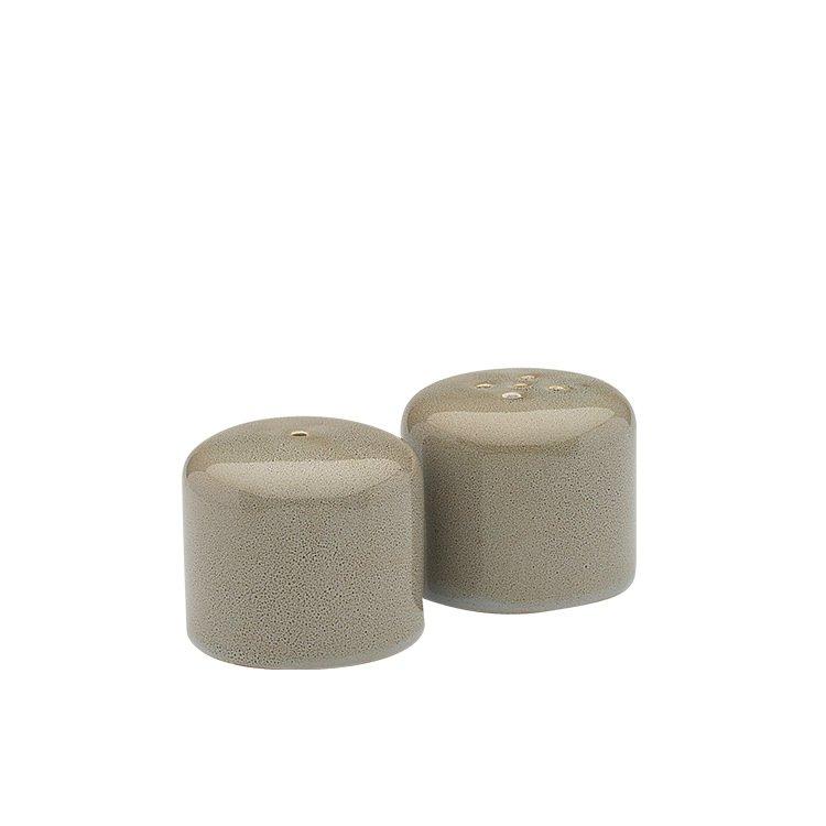Ecology Mineral Salt & Pepper Shaker Set of 2 Overcast