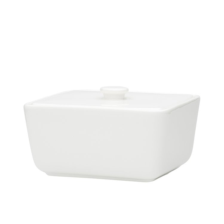 Ecology Providore Butter Dish White