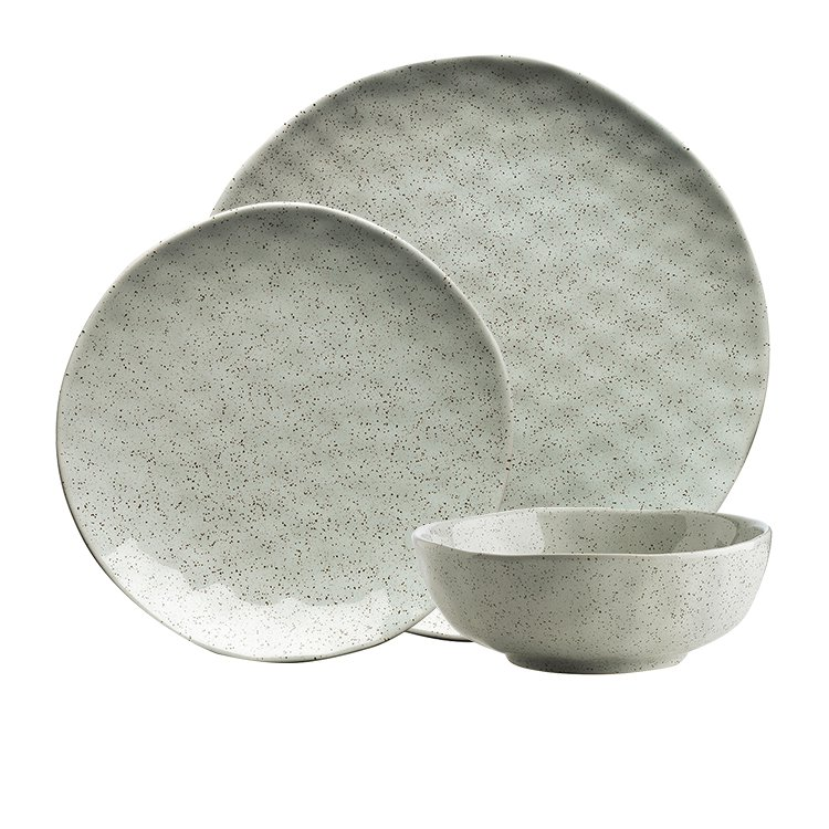 Ecology Speckle Dinner Set 12pc Duck Egg