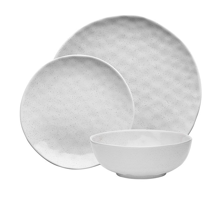 Ecology Speckle Dinner Set 12pc Milk