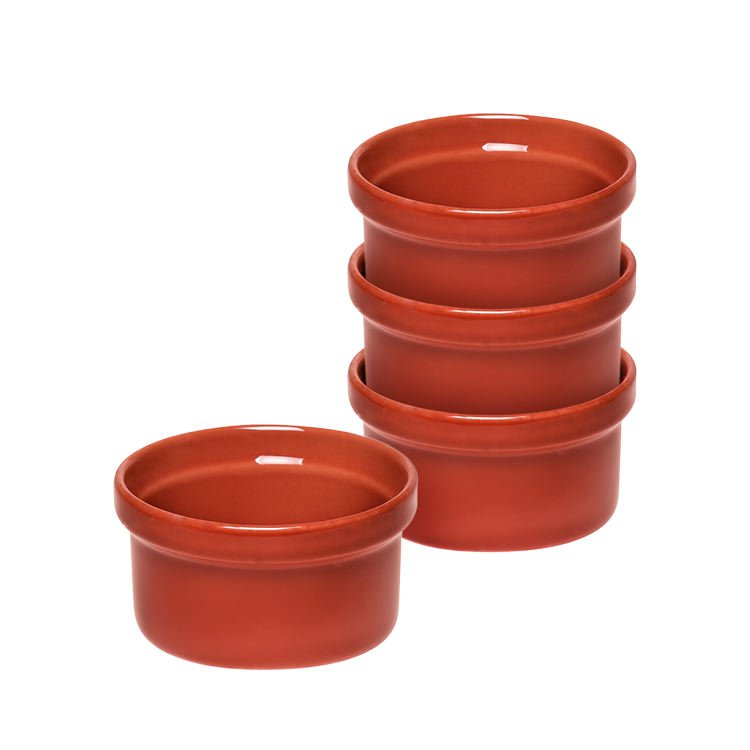 Emile Henry Ramekins Set of 4 Red Brick