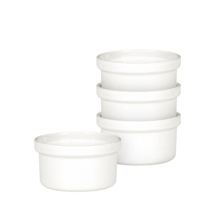 Emile Henry Ramekins Set of 4 White Flour