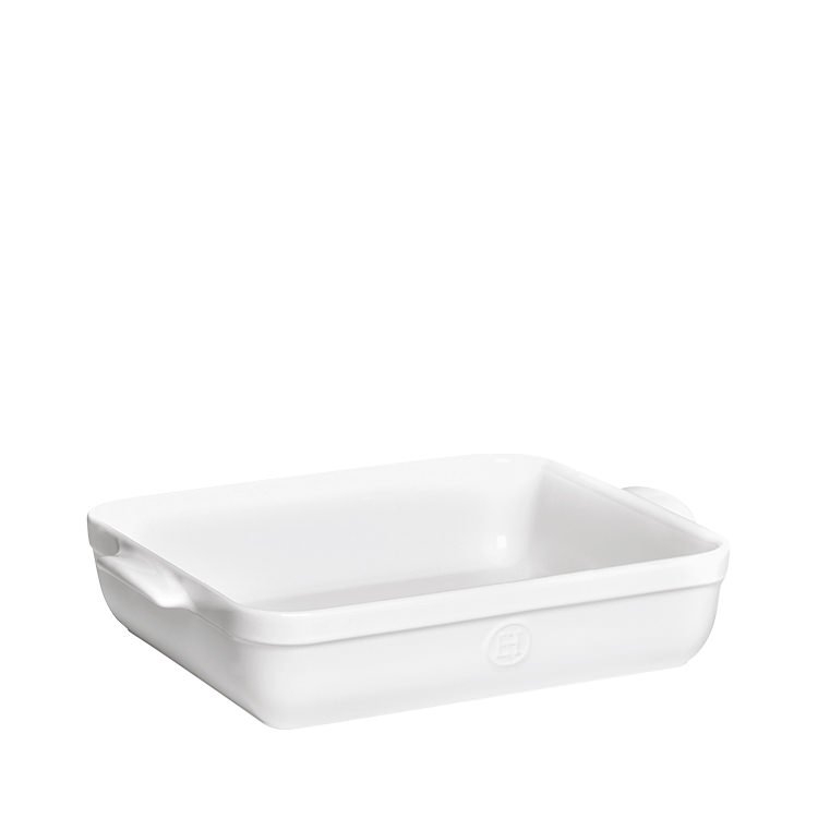 Emile Henry Rectangular Baking Dish 35 x 25.5cm White Flour