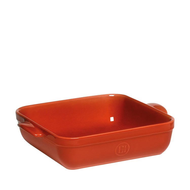 emile henry square baking dish 28cm red brick fast shipping. Black Bedroom Furniture Sets. Home Design Ideas