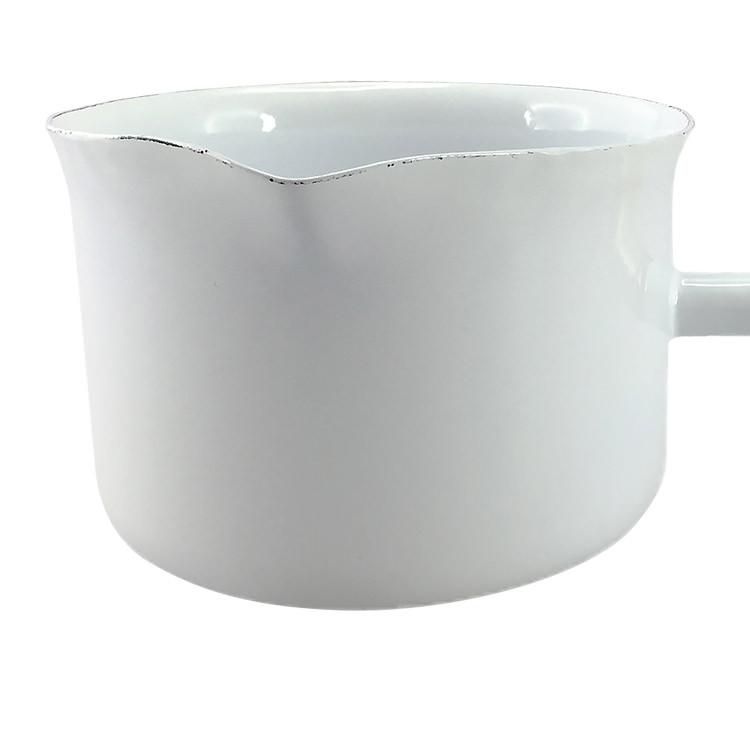 Falcon Enamel Milk Pan w/ Wood Handle 400ml White image #2