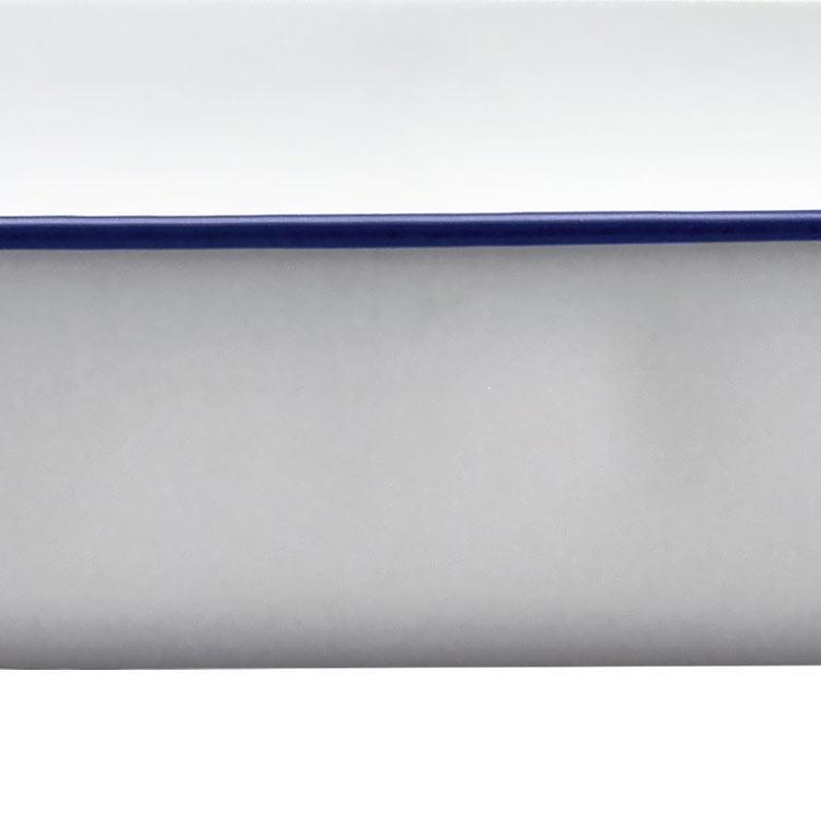 Falcon Enamel Deep Roasting Pan 41x33cm White/Blue Rim image #3