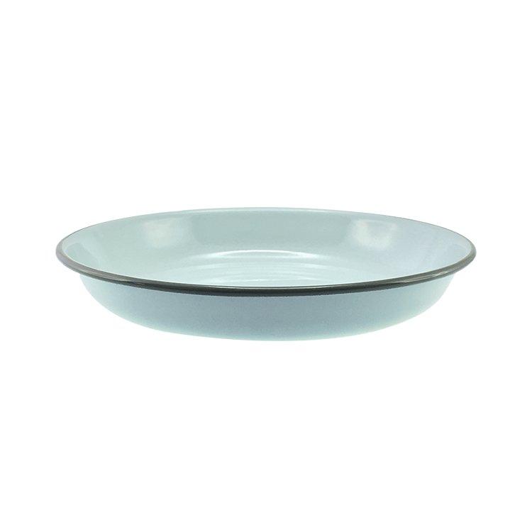 Falcon Enamel Pasta Plate 24cm Duck Egg Blue