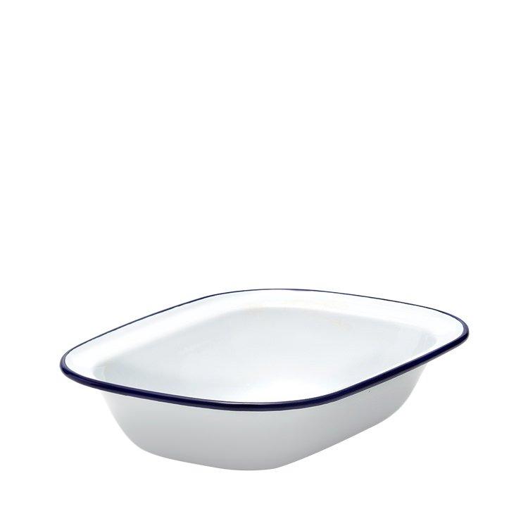 Falcon Enamel Pie Dish 24x18cm White