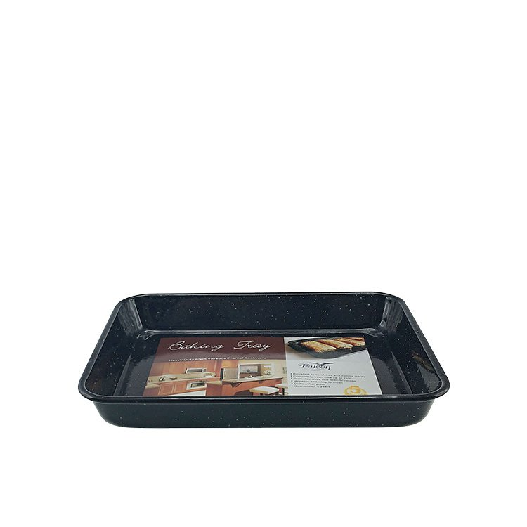 Falcon Enamel Rectangle Baking Tray 24x18x3cm Black