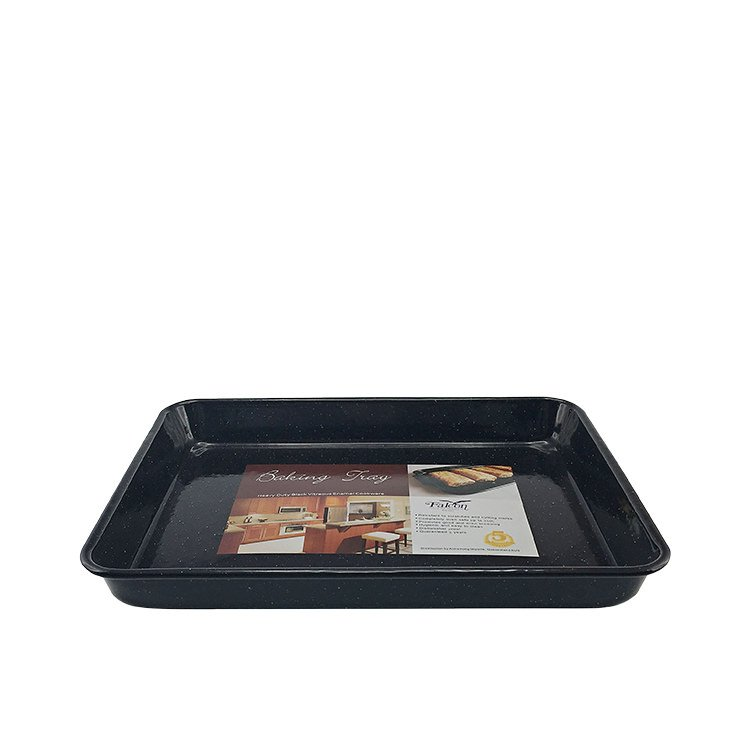 Falcon Enamel Rectangle Baking Tray 28x22x3cm Black