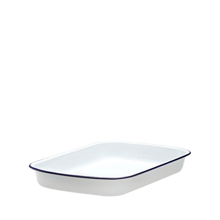 falcon enamel rectangle baking tray 31x27cm white with. Black Bedroom Furniture Sets. Home Design Ideas