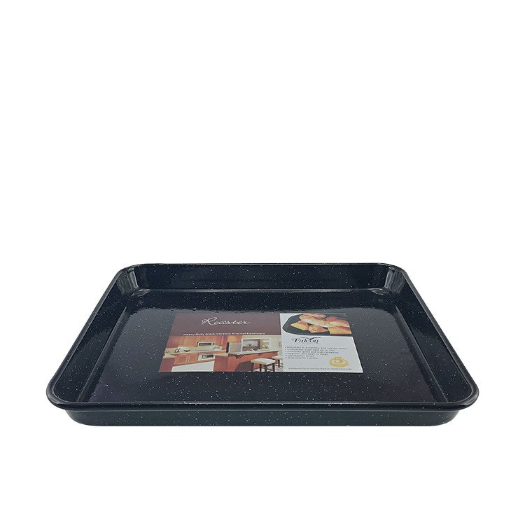 Falcon Enamel Rectangle Baking Tray 31x27x3cm Black