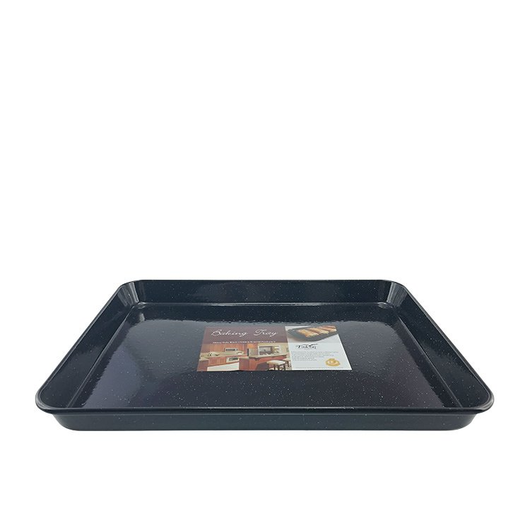 Falcon Enamel Rectangle Baking Tray 41x32x3cm Black