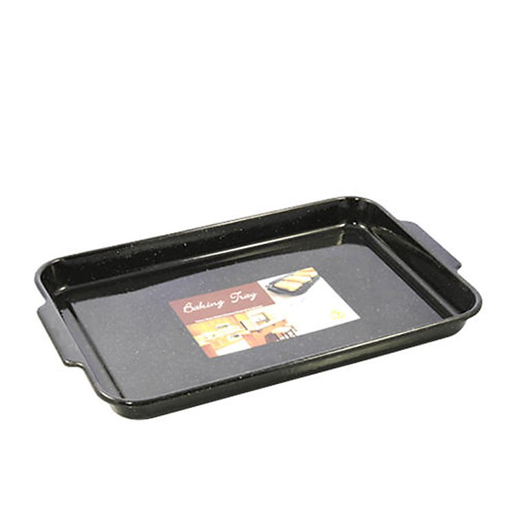 Falcon Enamel Rectangle Dish 41x28x3.5cm Black