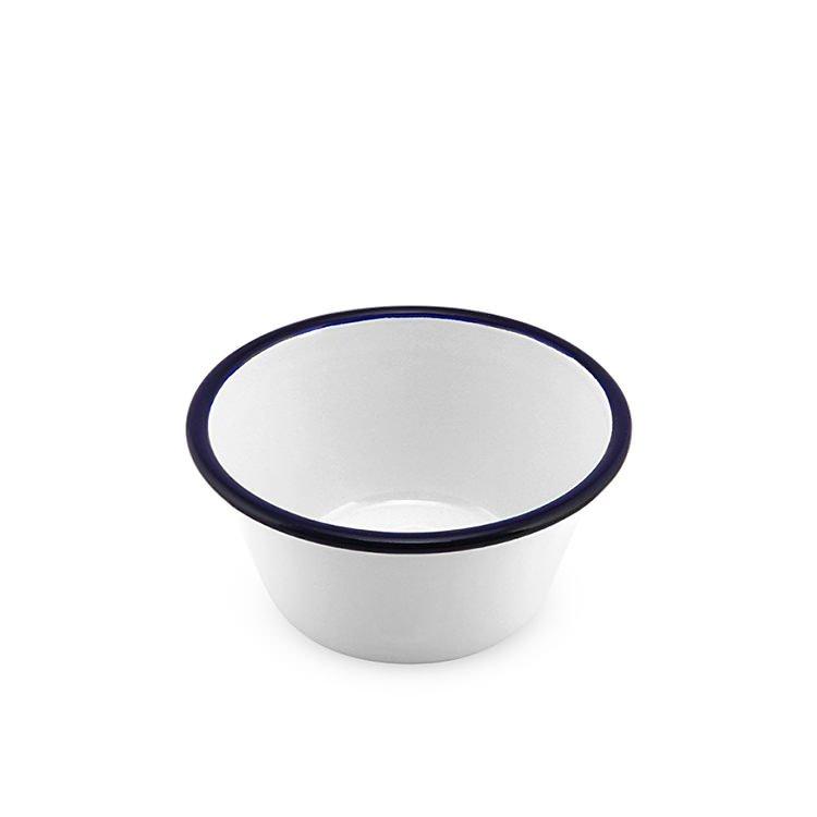 Falcon Enamel Pudding Basin 12cm White/Blue Rim image #2