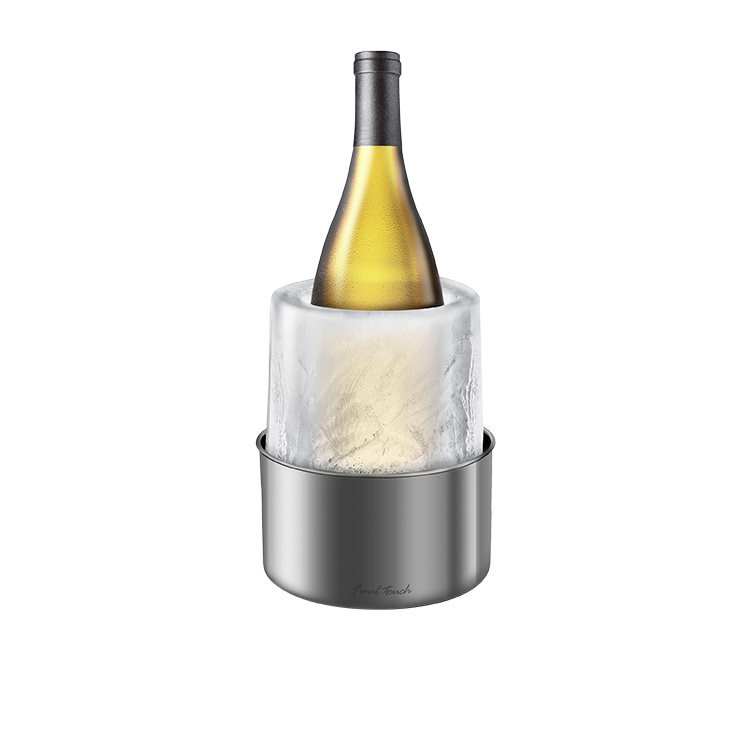 Final Touch Ice Bottle Chiller Silver