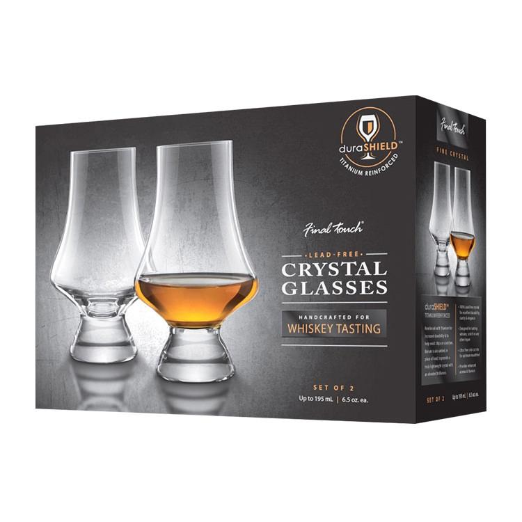 Final Touch Whiskey Tasting Glasses Set of 2