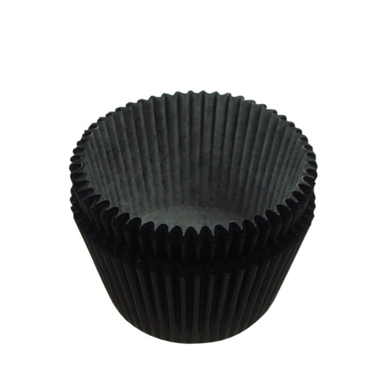 Fox Run Cupcake Paper Black 48pk