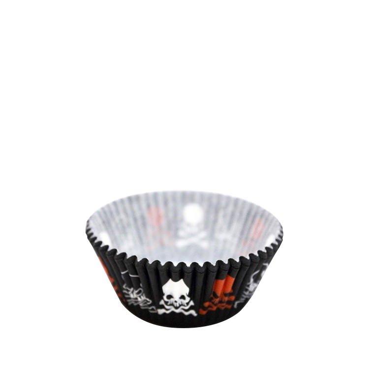 Fox Run Cupcake Paper Black Orange 48pk