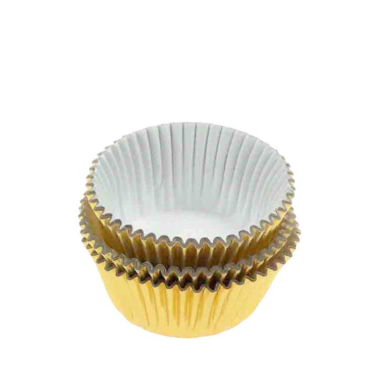 Fox Run Mini Muffin Cups Golden 48pk