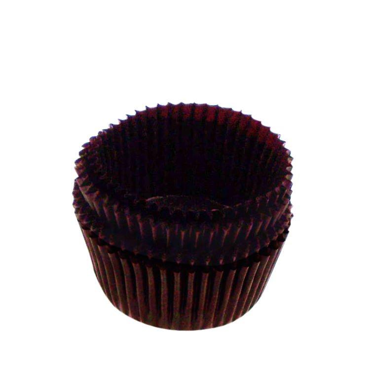 Fox Run Muffin Cups Mini Brown 60pk