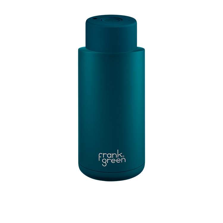 Frank Green Ultimate Ceramic Reusable Bottle 1L (34oz) Marine Blue