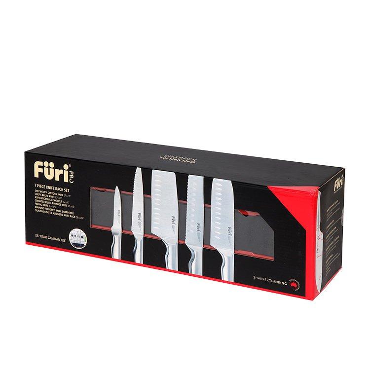 Furi Pro 7pc Magnetic Knife Rack Set