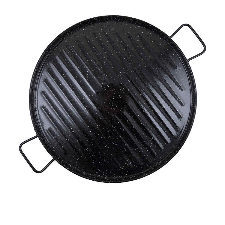 Garcima Enamelled Carbon Steel Griddle 46cm Black
