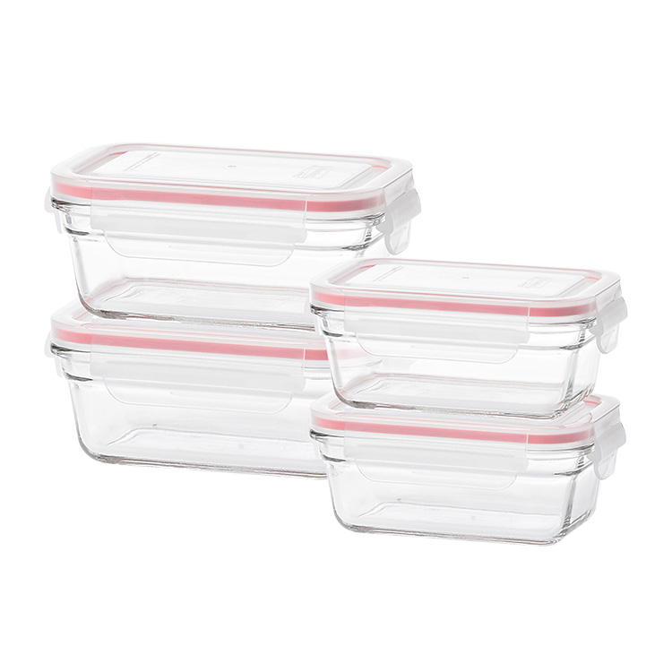 Glasslock Oven Safe Rectangular Container 4pc Set