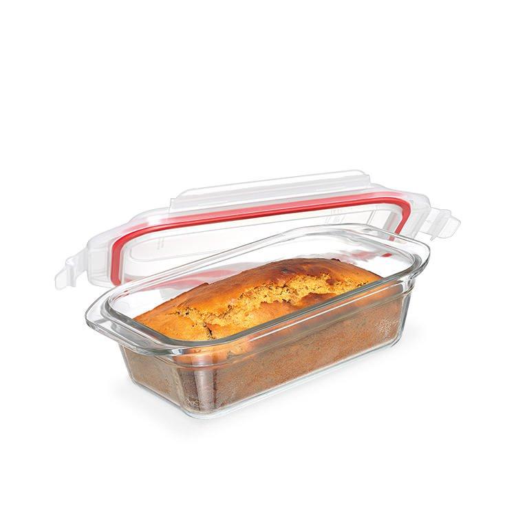 Glasslock Oven Safe Rectangular Glass Loaf Baker 29x15cm