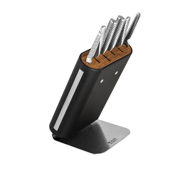 Global Hiro Shiro 7pc Knife Block Black Set